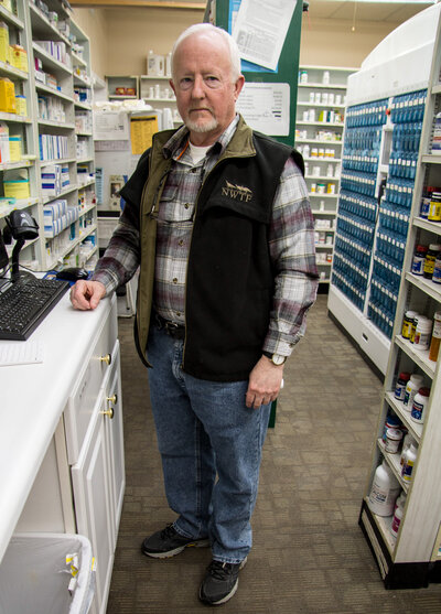 At Richard Logan's pharmacy in Charleston, Mo., prescription opioid painkillers are locked in a cabinet. For 20 years, he's also been a reserve deputy with two local sheriff's departments, investigating prescription drug abuse.