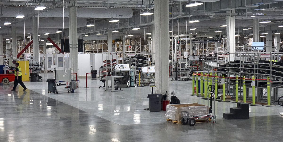 The production line at Tesla's Gigafactory is already operating for the Powerwall, a battery designed to store electricity from solar panels in average homes.