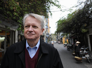 Chuck Searcy, shown in Hanoi in 2008, was a military intelligence analyst during the Vietnam War. He returned to Vietnam in 1995 and has been working to rid the country of unexploded ordnance since.
