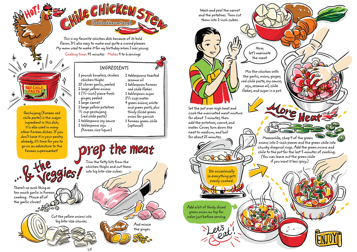 Learn To Make Korean Food With A Charming Graphic Cookbook