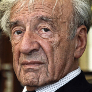 Elie Wiesel, in his office in New York.