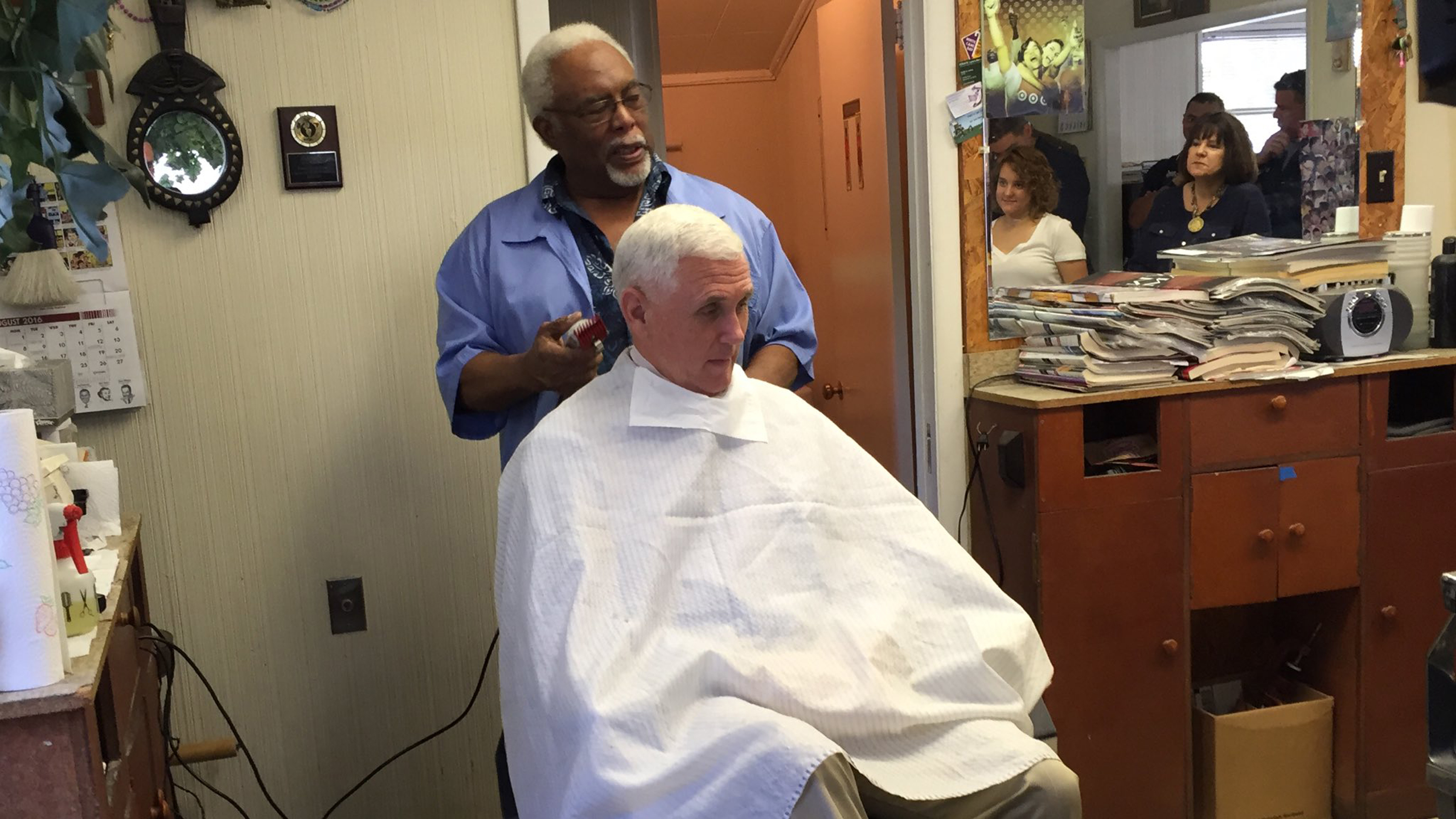 Mike Pence Got A Haircut At A Black Barbershop In