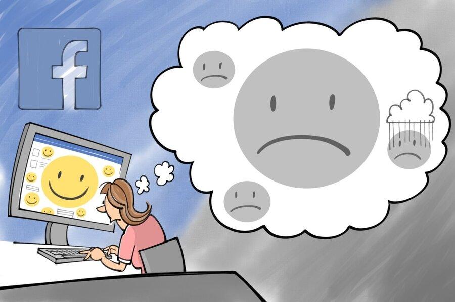 Image result for facebook depression