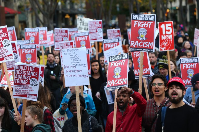 Anti-Trump protests break out in cities across the country | MPR News