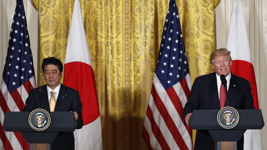 Resultado de imagem para Trump Shinzo Abe