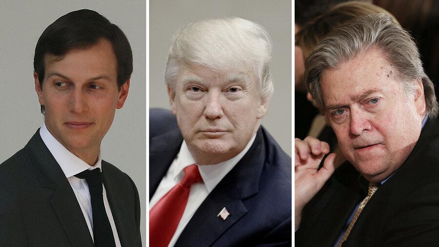 Image result for Steve Bannon,Trump, Kushner