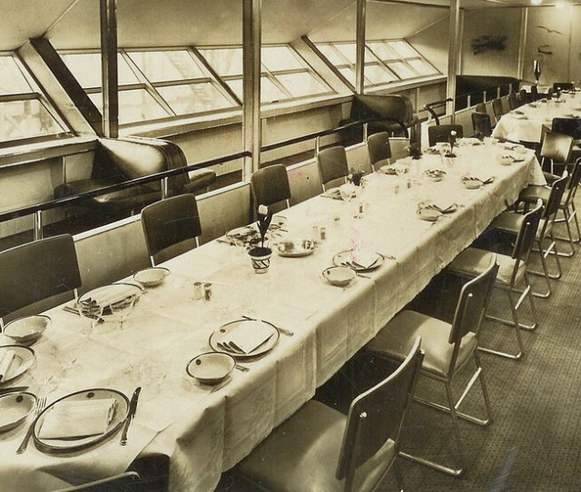 Photos When The Hindenburg Was The Height Of Luxe In Flight Dining