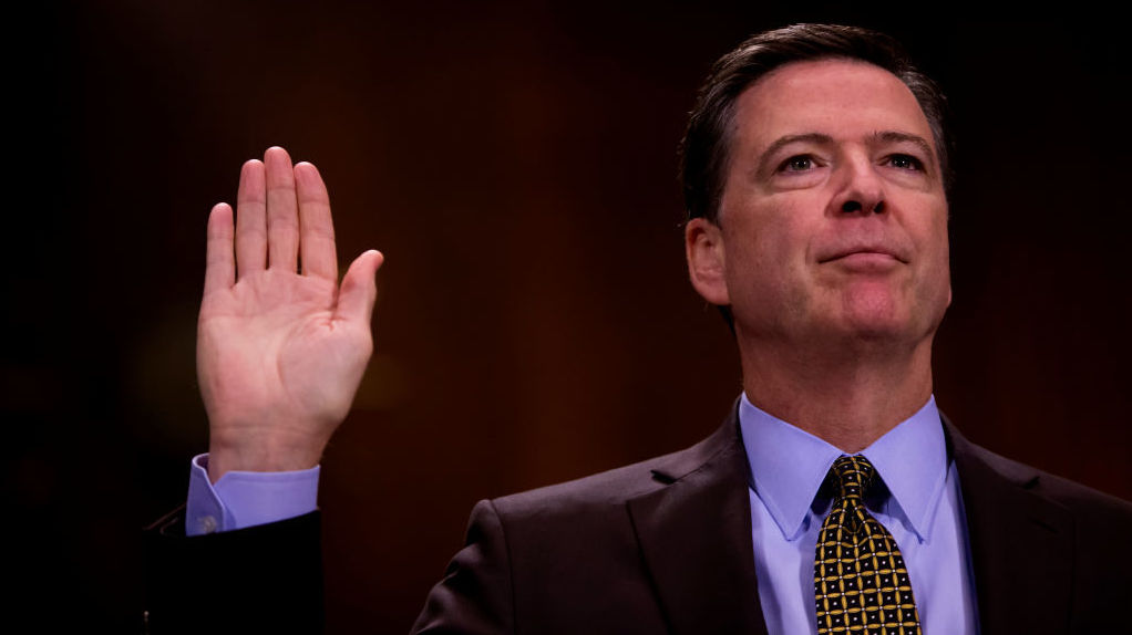 Then-FBI Director James Comey testified in front of the Senate Judiciary Committee during an oversight hearing earlier this month before he was fired by President Trump.