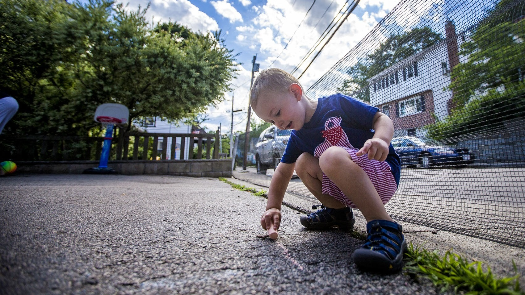 Two-year-old Robbie Klein has hemophilia, a medical condition that interferes with his blood