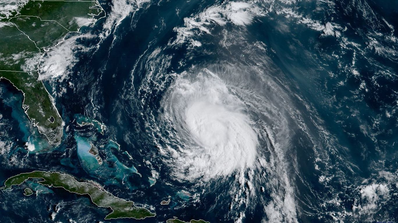 Tropical Storm Jose is moving west-northwest on Friday. The storm had been a dangerous Category 4 storm, with 150-mph winds, and is expected to become a hurricane once more.