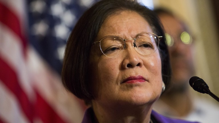 Democratic Sen. Mazie Hirono may have a quiet demeanor, but don