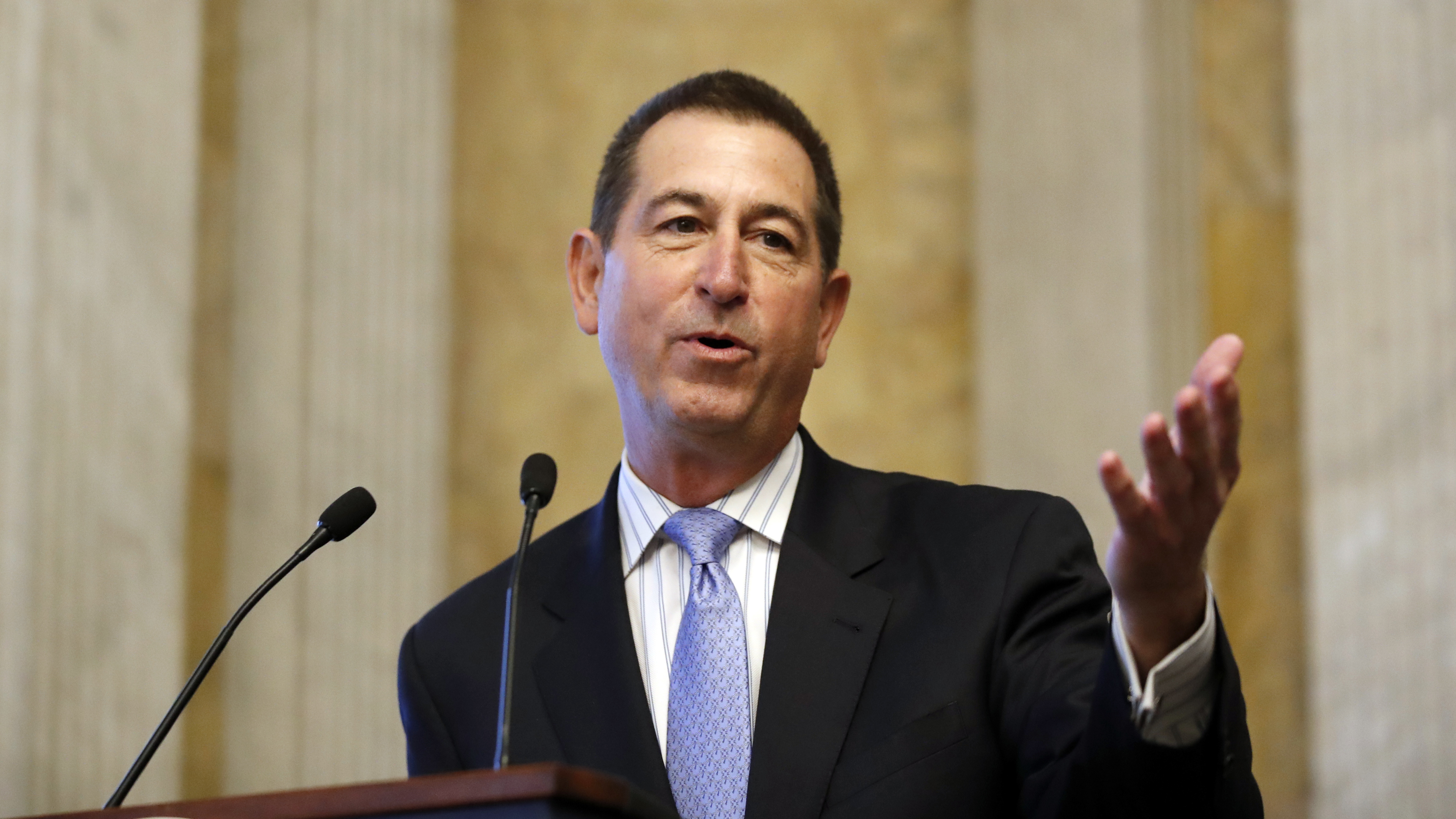 Comptroller of the Currency Joseph Otting, a former bank executive, is testifying before Congress this week about reshaping some banking rules.