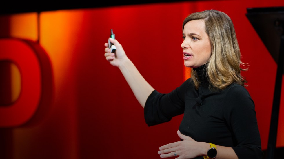 Kate Orff on the TED stage