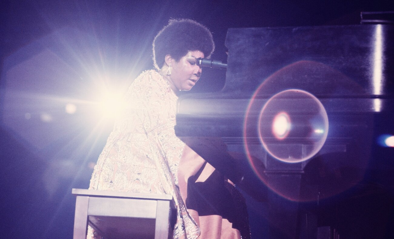 Aretha Franklin performs in New York in 1969.