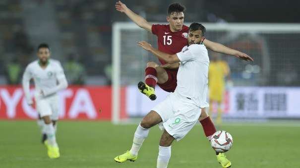 Saudi Arabia and Qatar face off during the AFC Asian Cup in Abu Dhabi, United Arab Emirates, on Thursday.