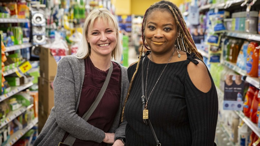 Heather Martin (left) was a student at Columbine High School in 1999. She met Sherrie Lawson, who worked at the Washington, D.C., Navy Yard in 2013 during the shooting there, through Martin