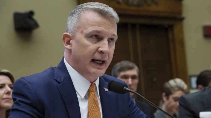 Federal scientist Richard Bright is seen during a 2018 congressional hearing