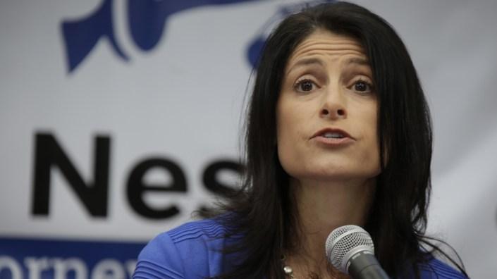 Dana Nessel announcing her bid for Michigan attorney general in 2017.