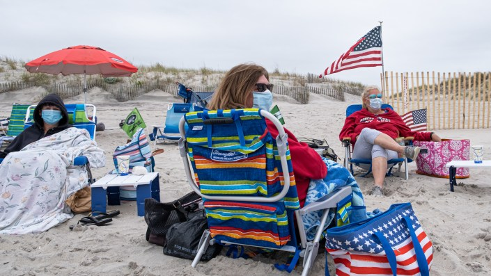 Memorial Day weekend at Robert Moses State Park on Fire Island, N.Y. As the pandemic continues, says Harvard