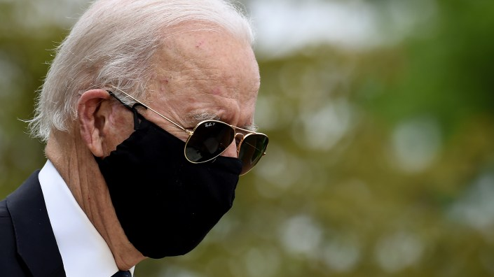 Democratic presidential candidate Joe Biden, at Delaware Memorial Bridge Veterans Memorial Park earlier this month, spoke from his home in Delaware where he has been during the coronavirus pandemic.
