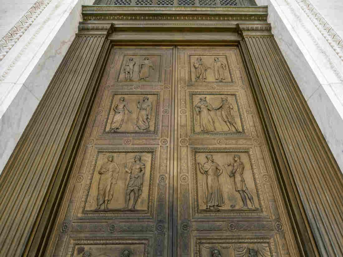 The bronze doors of the Supreme Court