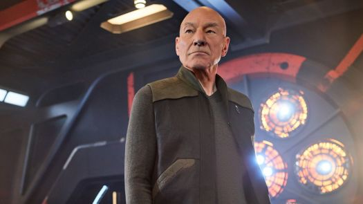 Patrick Stewart plays Captain Jean-Luc Picard on the CBS All Access series Star Trek: Picard.