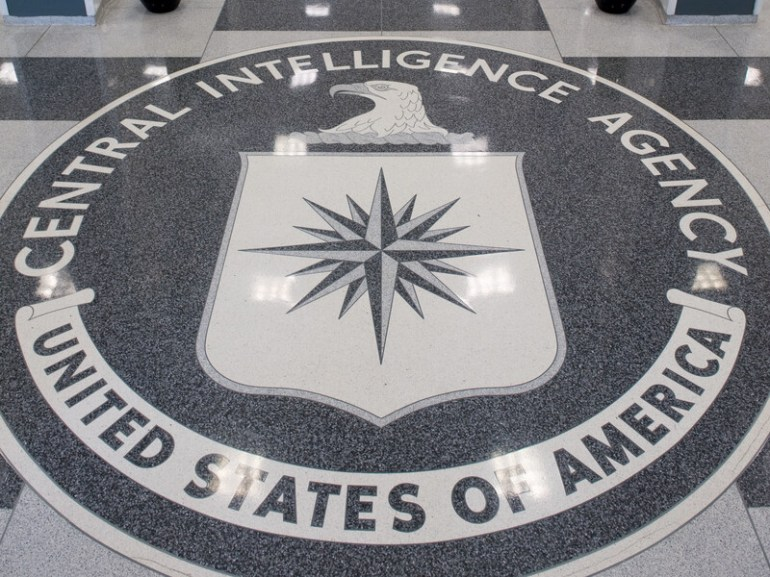 The Central Intelligence Agency (CIA) logo is displayed in the lobby of CIA Headquarters in Langley, Va., on Aug. 14, 2008.