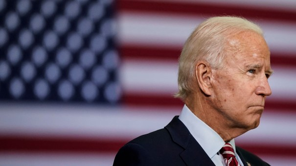 Democratic presidential nominee Joe Biden, pictured on Sept. 15, said in a statement Saturday that the next president should fill the Supreme Court vacancy.