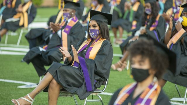 Roslyn Clark Artis, president of Benedict College, hosted a graduation ceremony for 180 students in the school