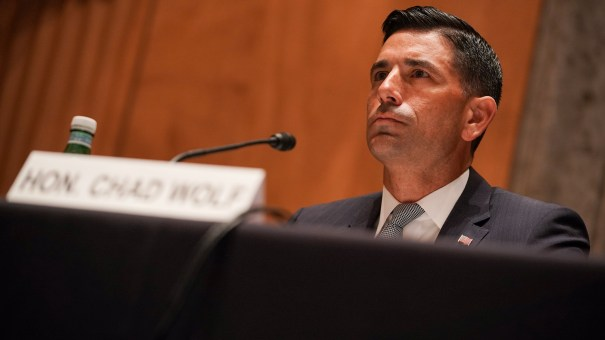 Acting Homeland Security Secretary Chad Wolf is stepping down, citing ongoing litigation regarding his authority at the department.