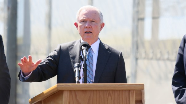 Then-Attorney General Jeff Sessions visits California in April 2017. Department of Justice Inspector General Michael  Horowitz has released a critical review of Sessions