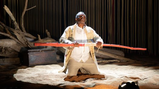 John Douglas Thompson portrays the magician Prospero in a Commonwealth Shakespeare Company production of The Tempest in Boston this month.