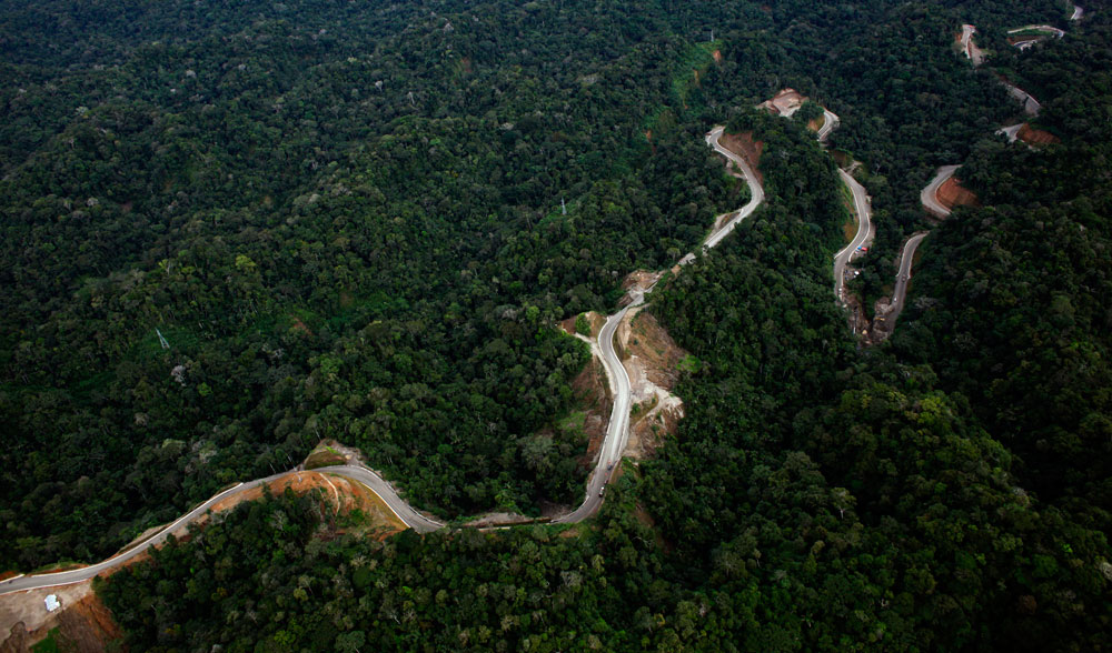 Welcome to the Interoceanic Highway South. Sao Paolo, Brazil 4601 kilometers. Photo by NPR