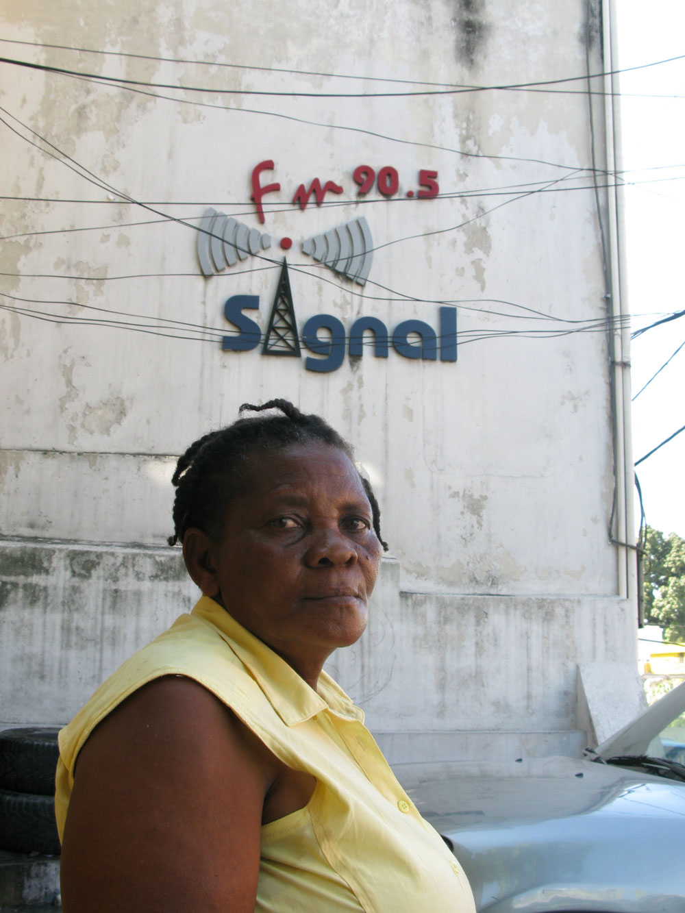 Andrea Ansenne came to Signal FM looking for her niece.