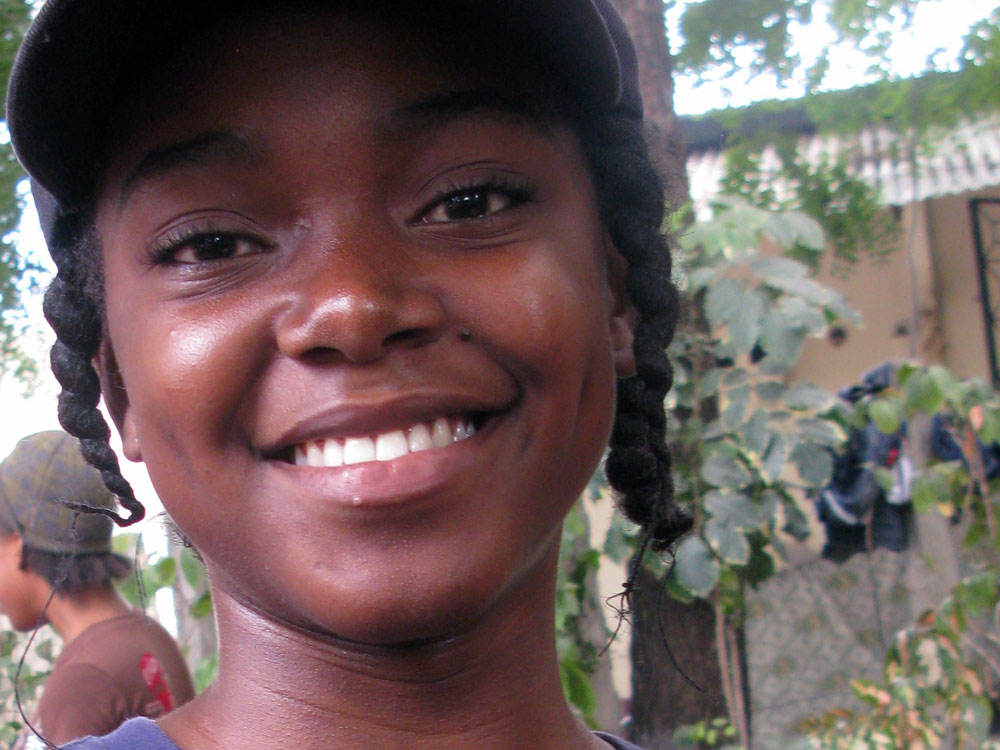 Stefica Jean Pierre, 16, wrote her letter in English.