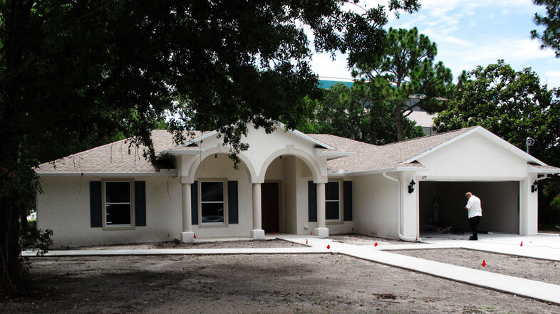 New Millennial Homes designed this ranch house for Jim and Cheryl Waggoner in Tampa Bay, Fla.