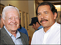 Jimmy Carter (left) and Daniel Ortega