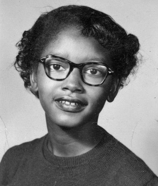 A young Claudette Colvin