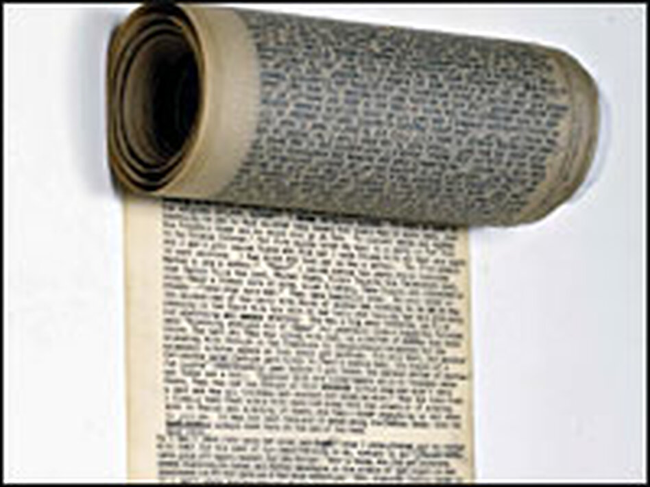 The original scroll of Jack Kerouac's On the Road.