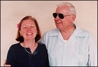 Kathleen Hensley Portalski with her late father, Jim Hensley.