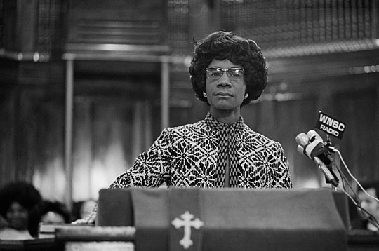 Shirley Chisholm campaigns at the 1972 Democratic National Convention.