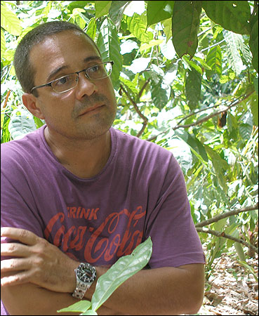 Joao Tavares, a fourth-generation cocoa farmer