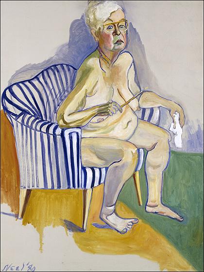 Alice Neel, 1980 self-portrait