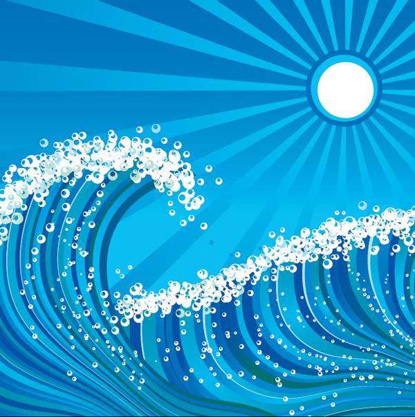 Sử dụng Adobe Illustrator để tạo sóng biển
