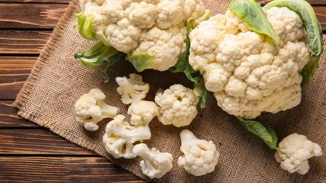 Cauliflower: you can eat one for several days.