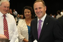 Prime Minister John Key before his state-of-the-nation speech in Auckland today. Photo / Greg Bowker