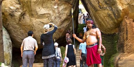 The Sigiriya rock fortress. Photo / Alex Robertson