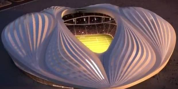 The design for the stadium in Qatar.