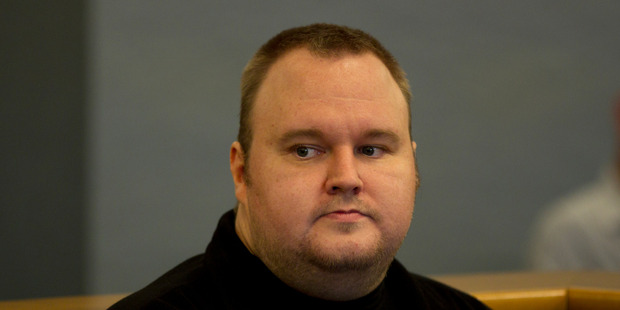 Kim Dotcom at the Auckland High Court.