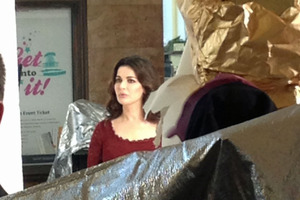 Nigella Lawson in Wellington today. Photo / APNZ